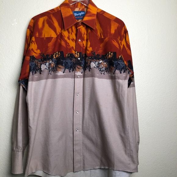 Wrangler Vintage Western Shirt L